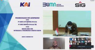 SIG-KAI Kerjasama Perlancar Distribusi Semen Di Jawa Dan Sumatera