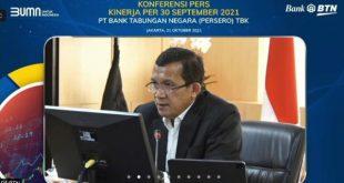 Laba BTN Tumbuh 35,32% Hingga September 2021